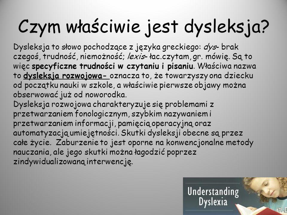 Czym właściwie jest dysleksja
