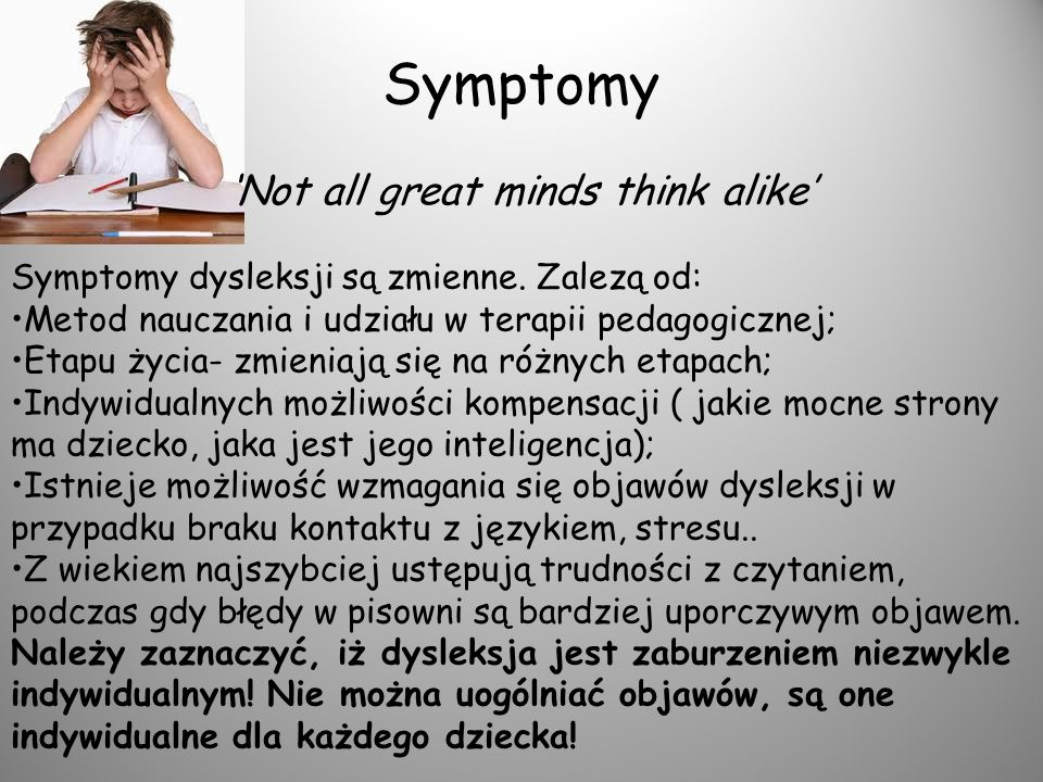 Symptomy 'Not all great minds think alike'