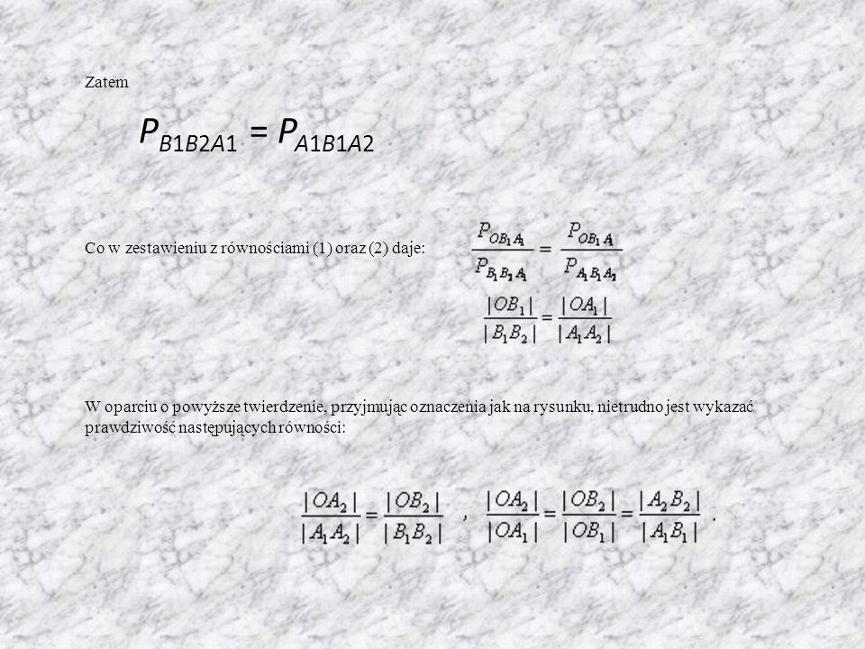 Co w zestawieniu z równościami (1) oraz (2) daje:
