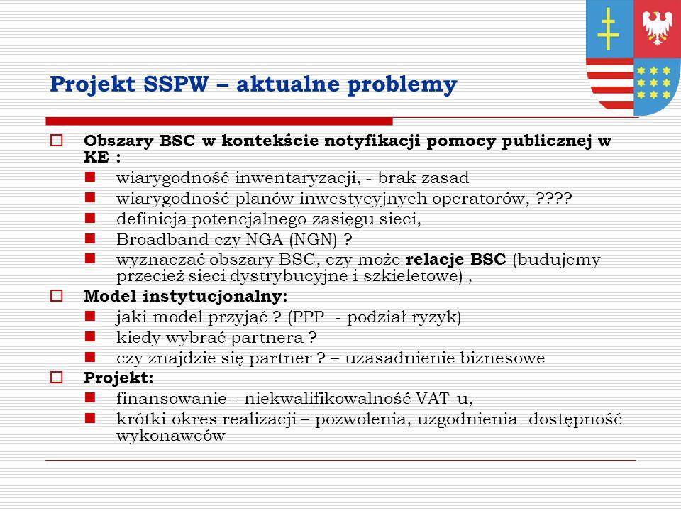 Projekt SSPW – aktualne problemy