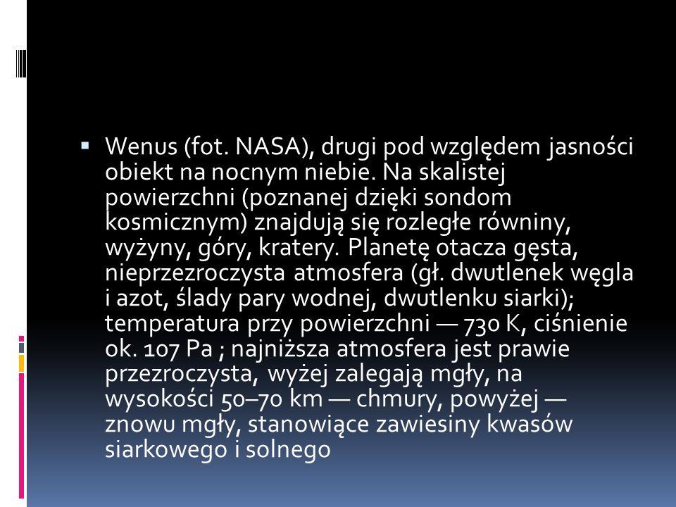 Wenus (fot. NASA), drugi pod względem jasności obiekt na nocnym niebie