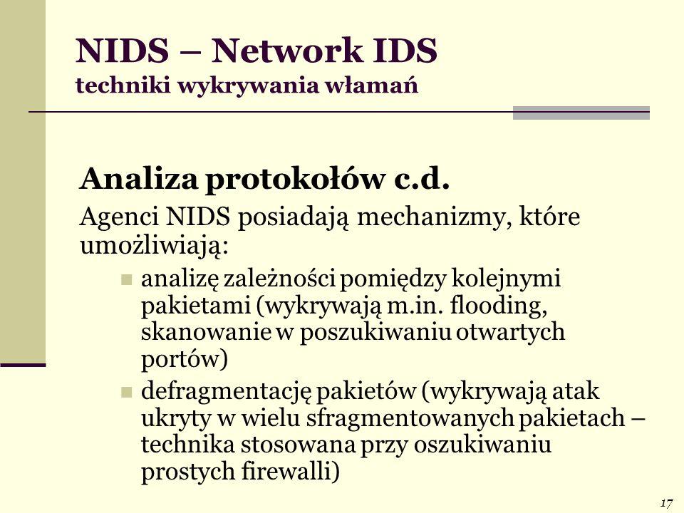 NIDS – Network IDS techniki wykrywania włamań