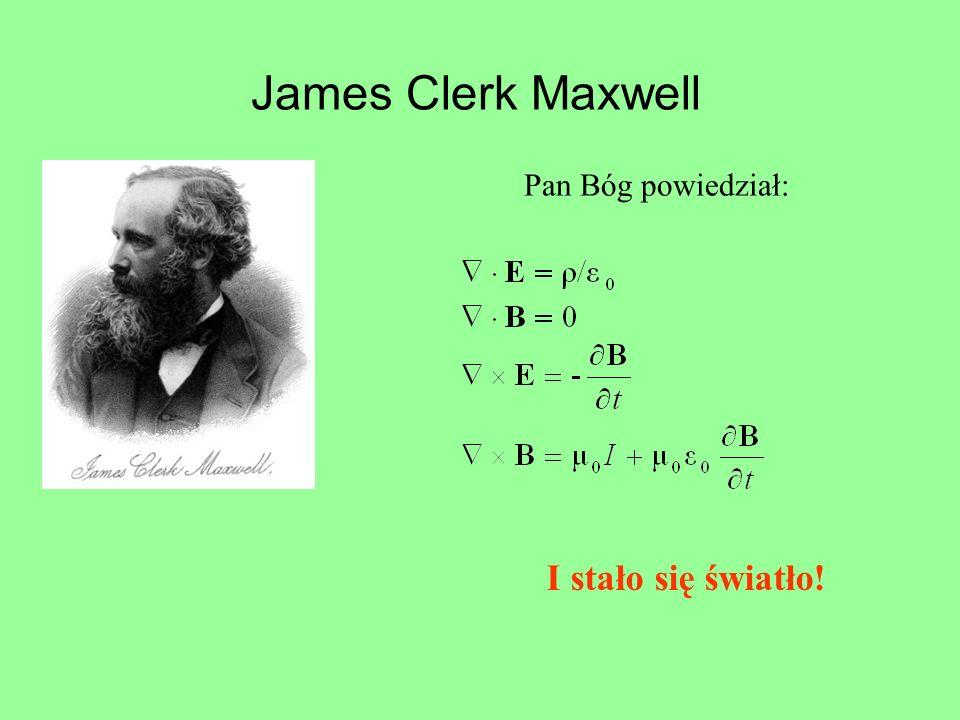 James Clerk Maxwell Pan Bóg powiedział: I stało się światło!