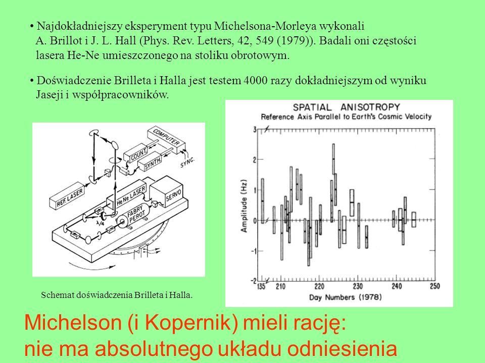 Michelson (i Kopernik) mieli rację: