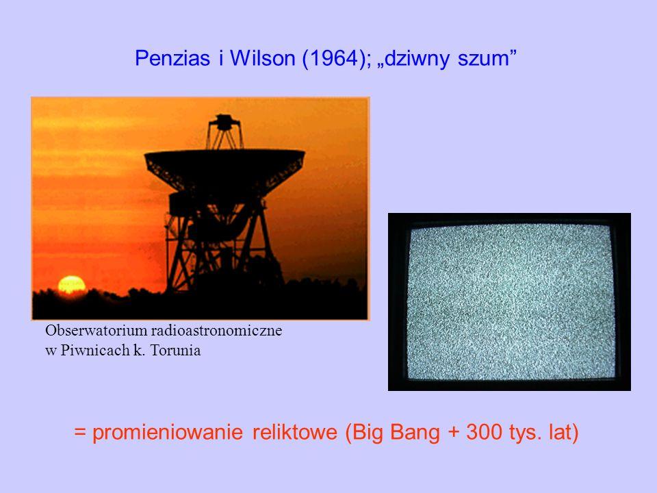 """Penzias i Wilson (1964); """"dziwny szum"""