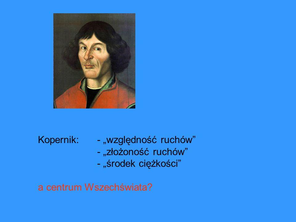 """Kopernik: - """"względność ruchów"""