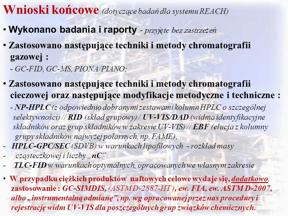 Wnioski końcowe (dotyczące badań dla systemu REACH)
