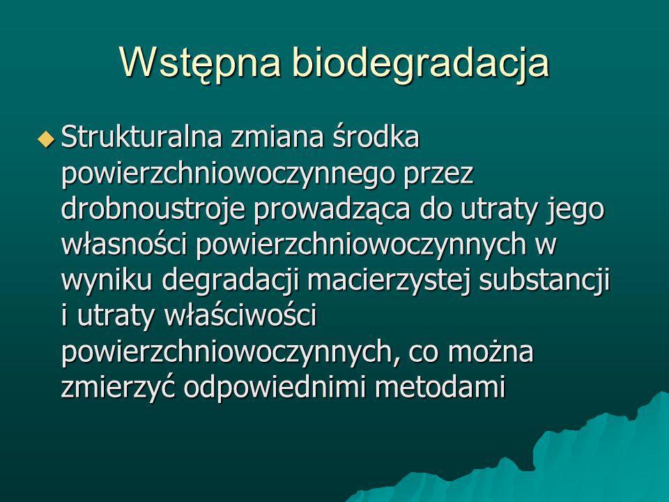 Wstępna biodegradacja