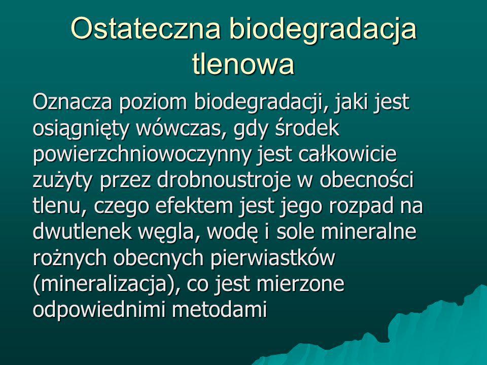 Ostateczna biodegradacja tlenowa