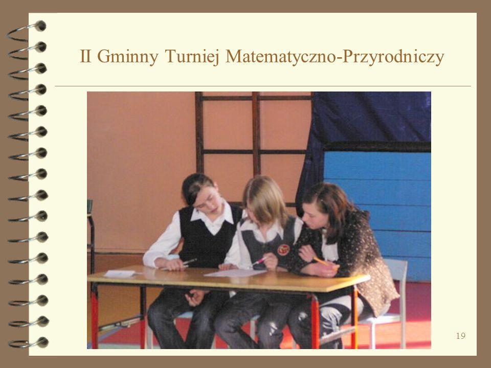 II Gminny Turniej Matematyczno-Przyrodniczy