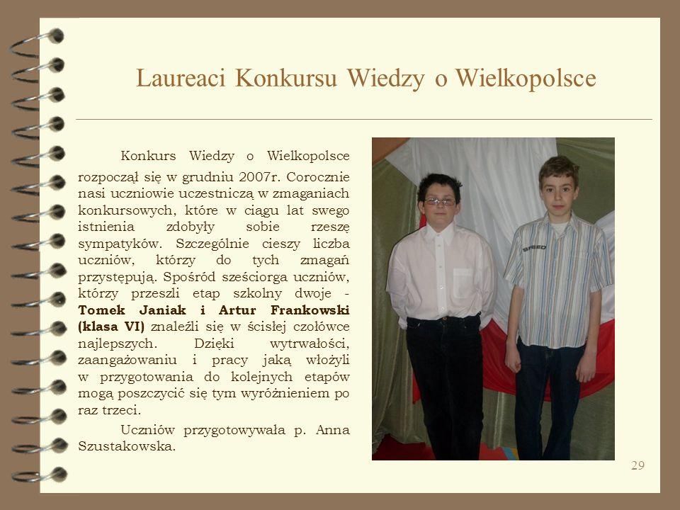 Laureaci Konkursu Wiedzy o Wielkopolsce