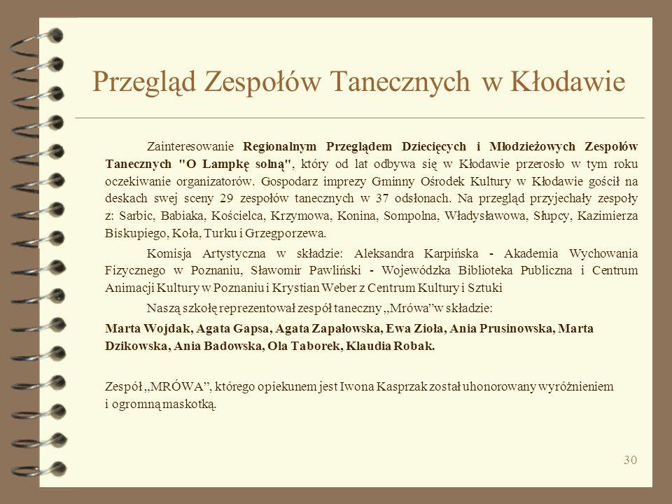 Przegląd Zespołów Tanecznych w Kłodawie
