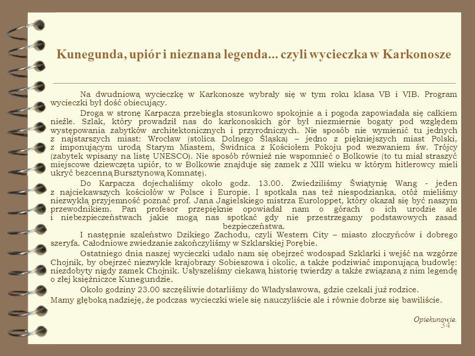 Kunegunda, upiór i nieznana legenda... czyli wycieczka w Karkonosze