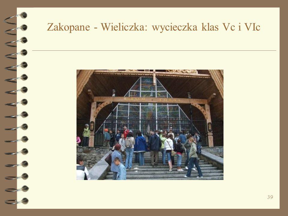 Zakopane - Wieliczka: wycieczka klas Vc i VIc