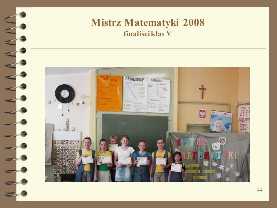 Mistrz Matematyki 2008 finaliści klas V