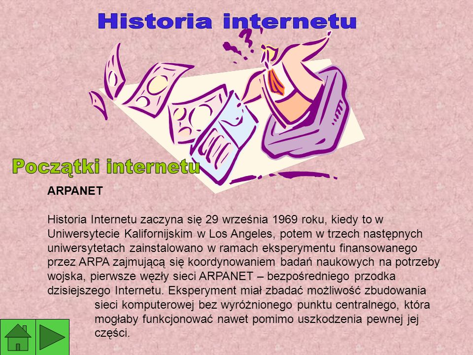Historia internetu Początki internetu ARPANET