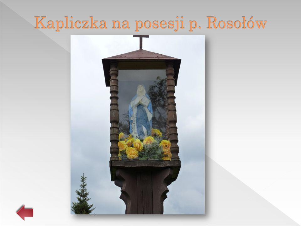 Kapliczka na posesji p. Rosołów