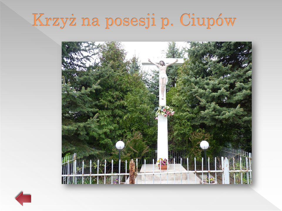 Krzyż na posesji p. Ciupów