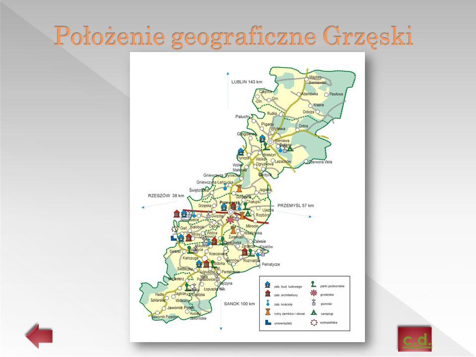 Położenie geograficzne Grzęski
