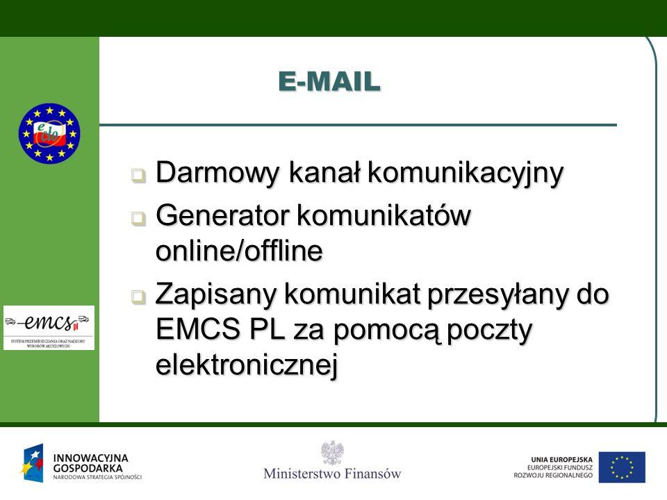 Darmowy kanał komunikacyjny Generator komunikatów online/offline