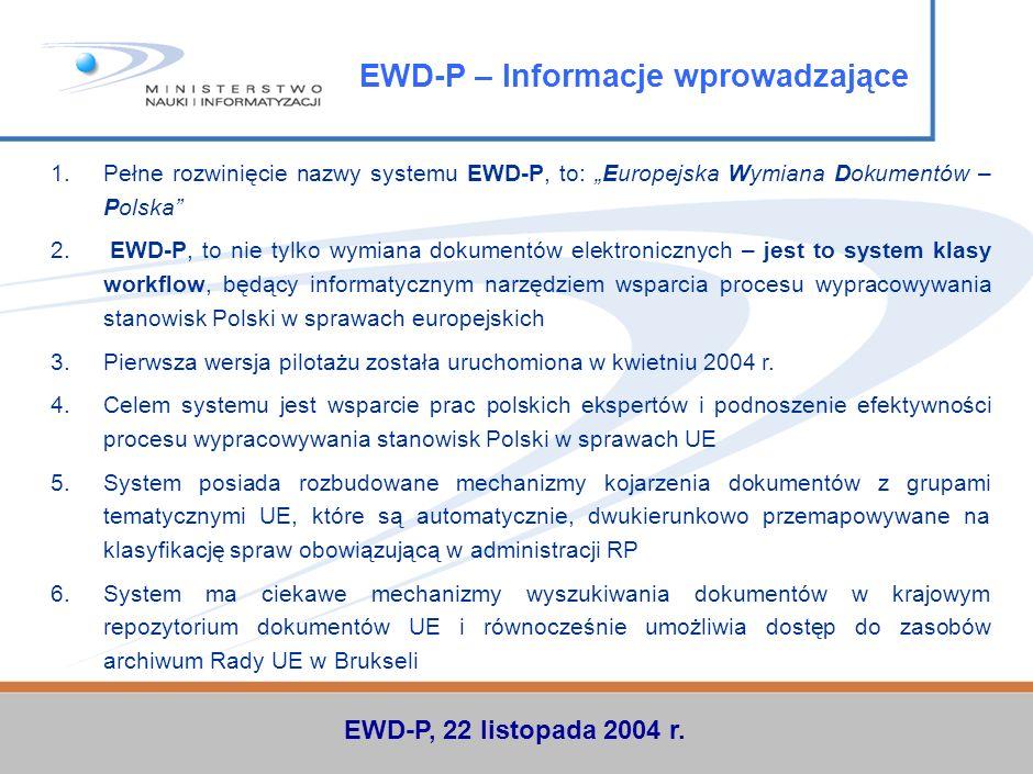 EWD-P – Informacje wprowadzające
