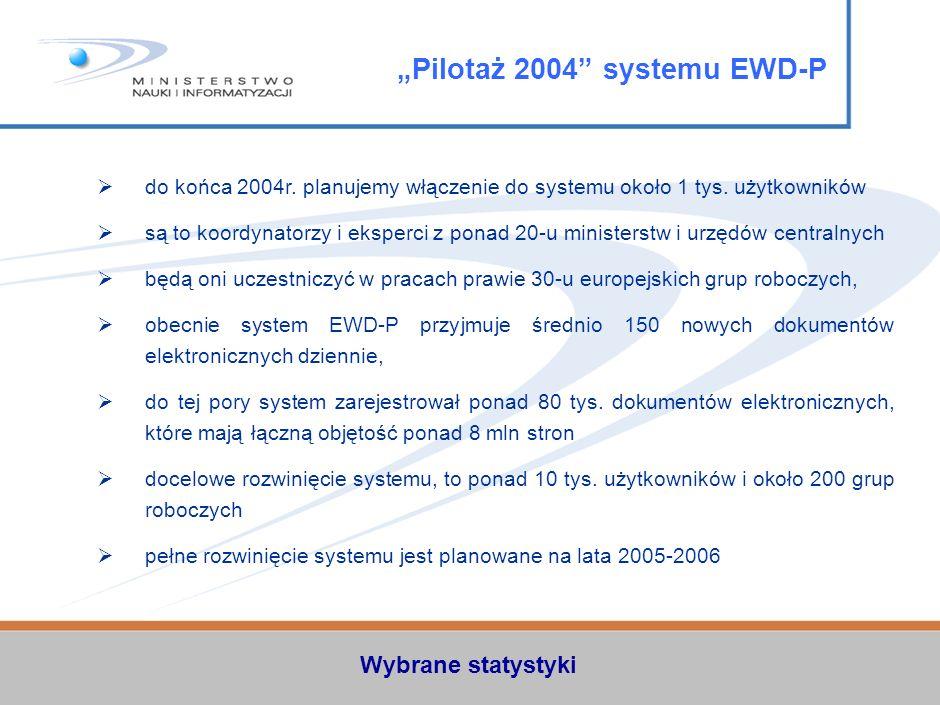 """Pilotaż 2004 systemu EWD-P"