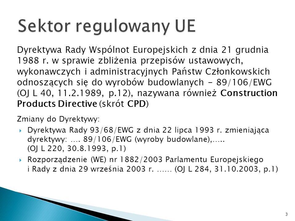Sektor regulowany UE