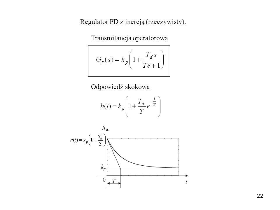 Regulator PD z inercją (rzeczywisty).
