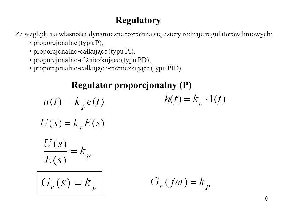 Regulator proporcjonalny (P)