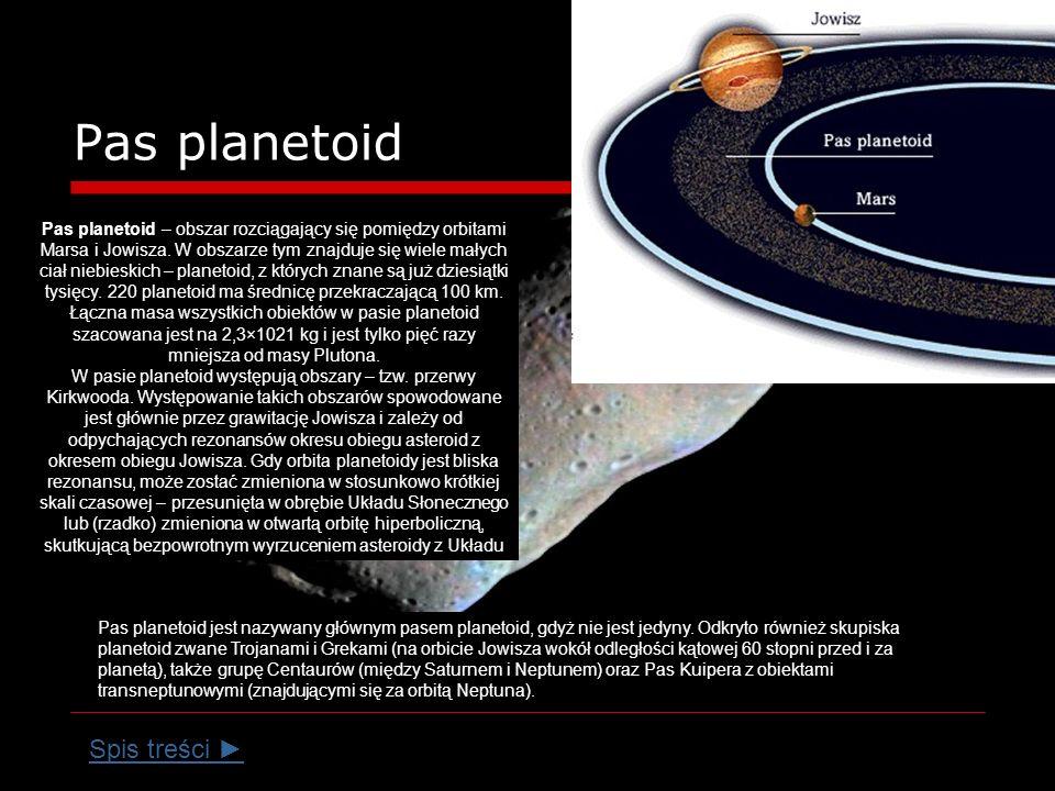 Pas planetoid Spis treści ►
