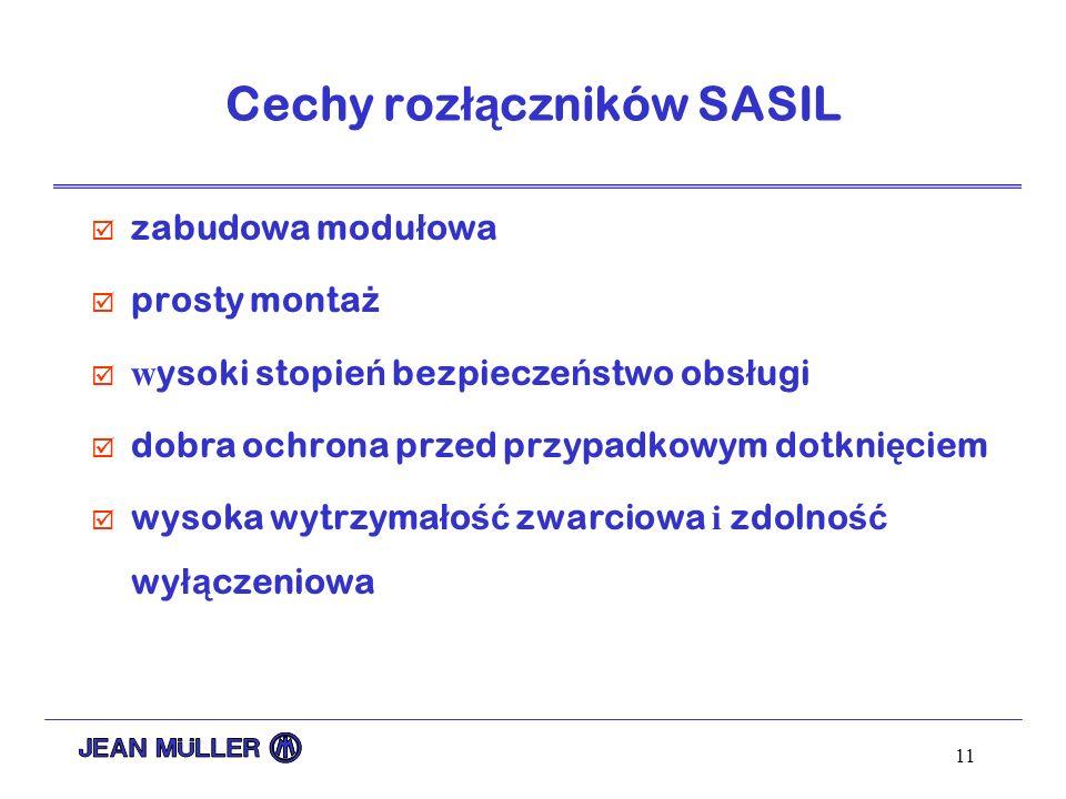 Cechy rozłączników SASIL