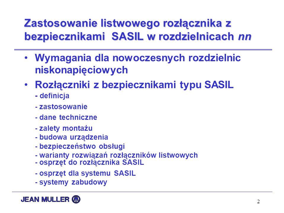 Zastosowanie listwowego rozłącznika z bezpiecznikami SASIL w rozdzielnicach nn