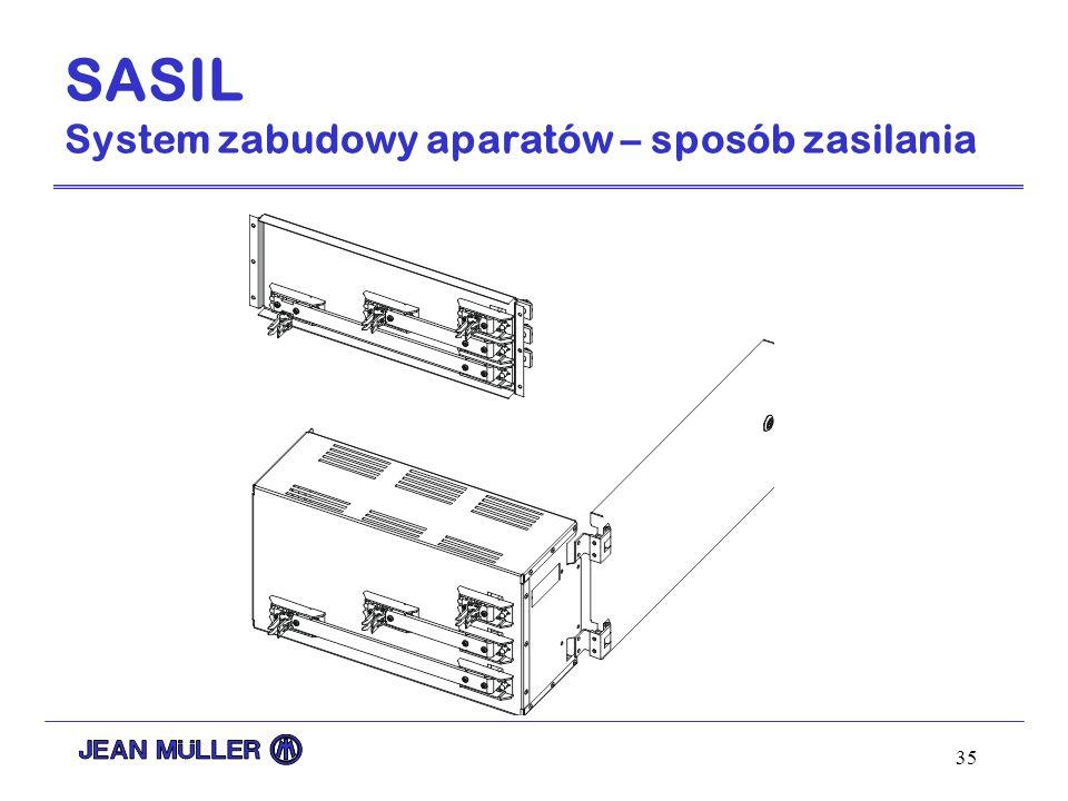 SASIL System zabudowy aparatów – sposób zasilania
