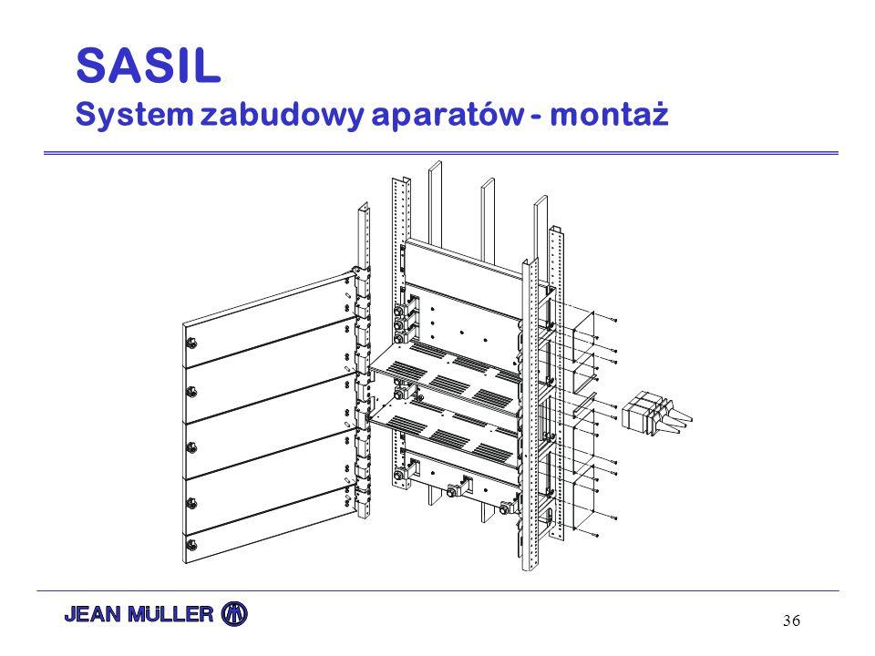 SASIL System zabudowy aparatów - montaż
