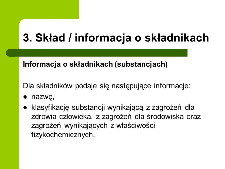 3. Skład / informacja o składnikach