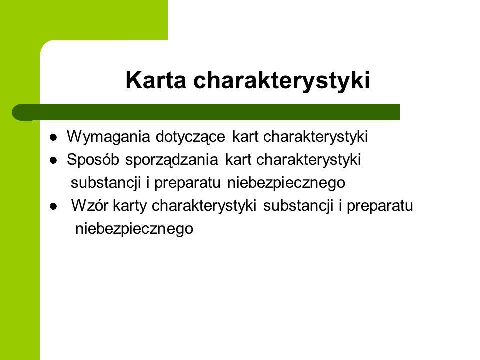 Karta charakterystyki