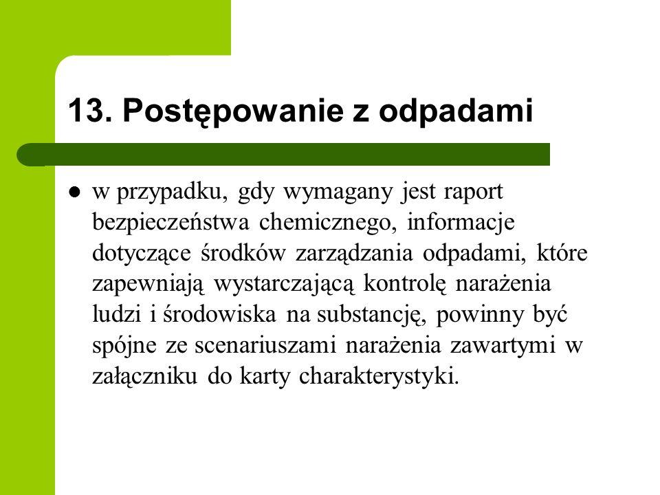 13. Postępowanie z odpadami
