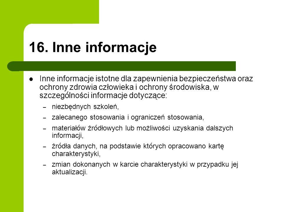 16. Inne informacje