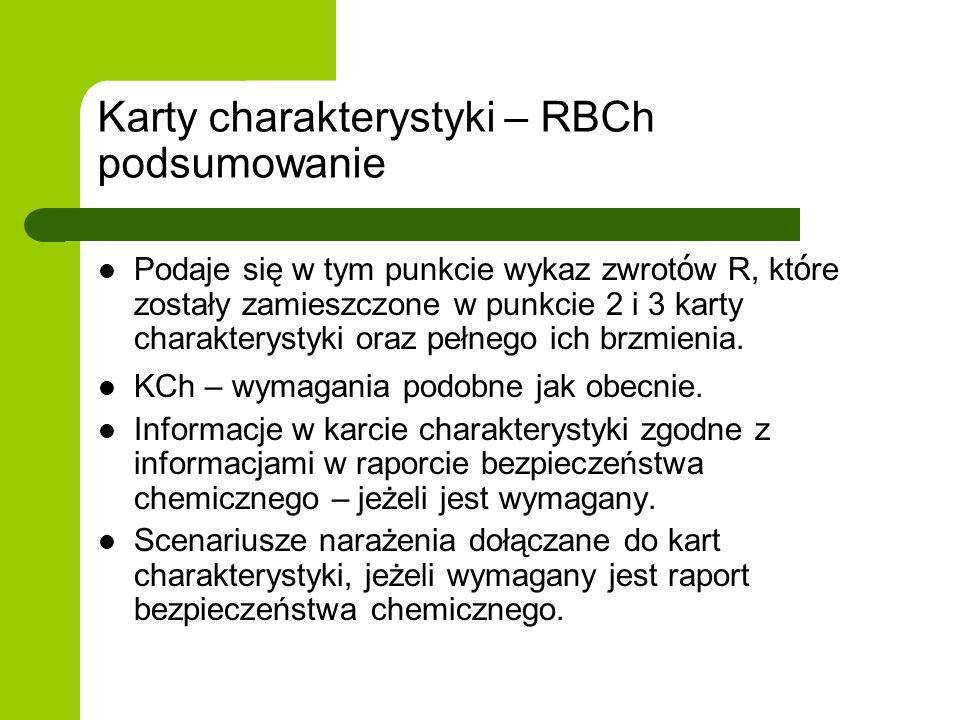 Karty charakterystyki – RBCh podsumowanie
