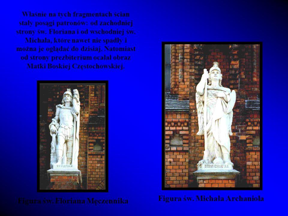 Figura św. Michała Archanioła Figura św. Floriana Męczennika
