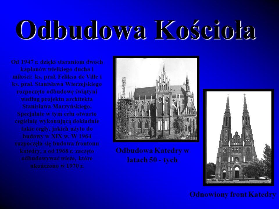 Odbudowa Katedry w latach 50 - tych