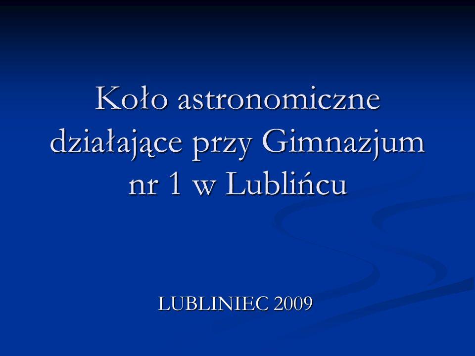 Koło astronomiczne działające przy Gimnazjum nr 1 w Lublińcu