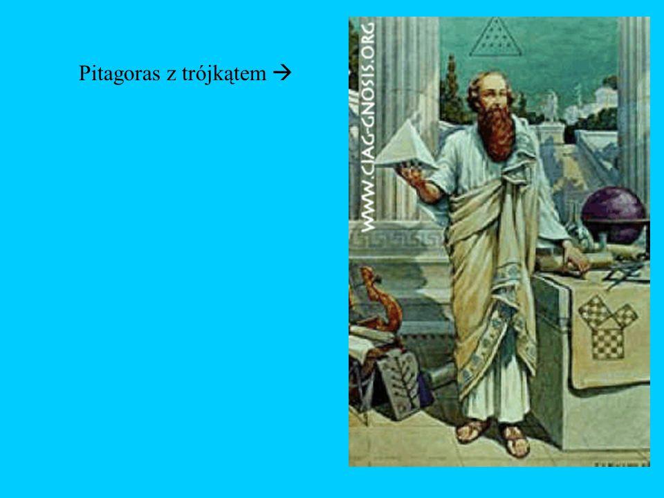 Pitagoras z trójkątem 
