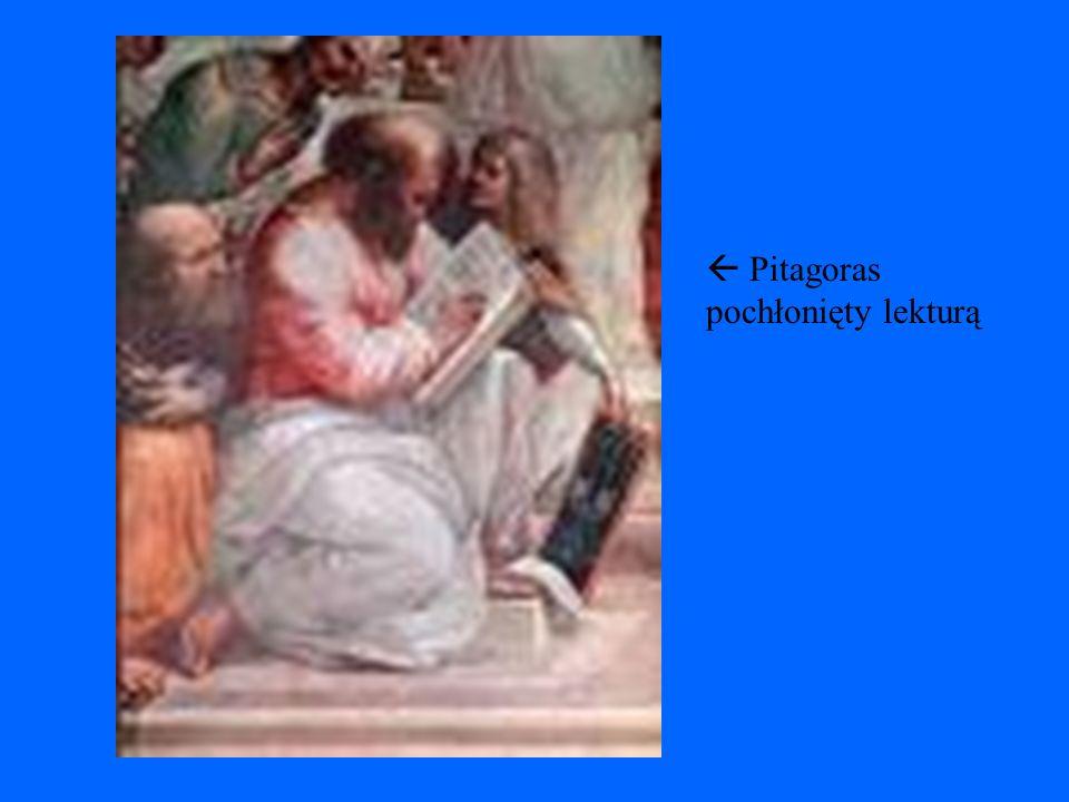  Pitagoras pochłonięty lekturą