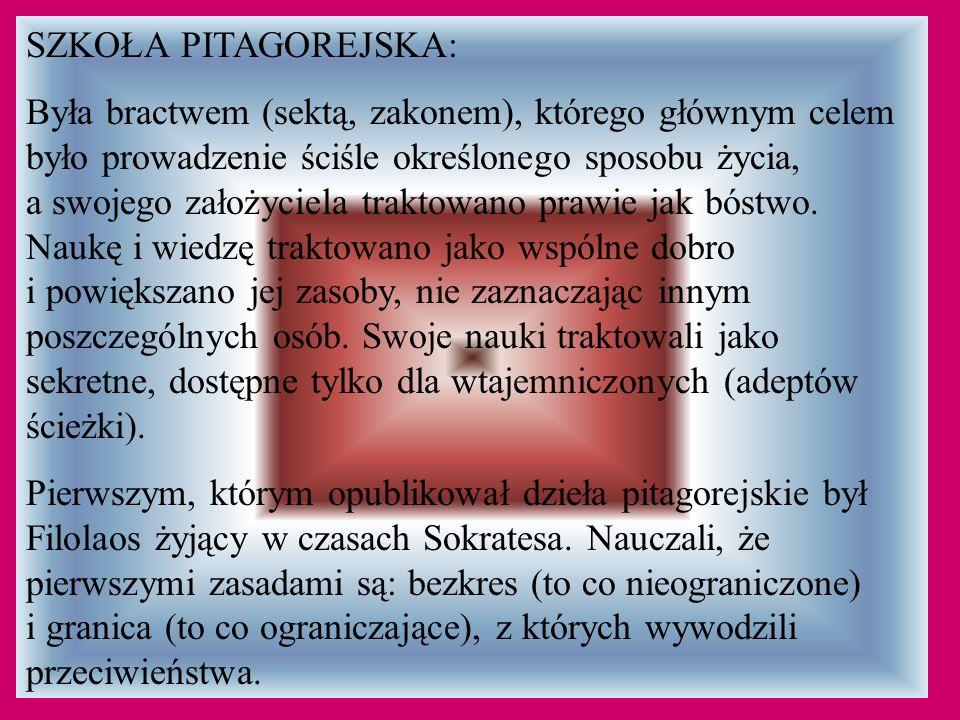 SZKOŁA PITAGOREJSKA: