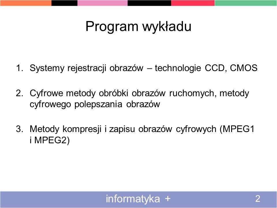 Program wykładu informatyka +