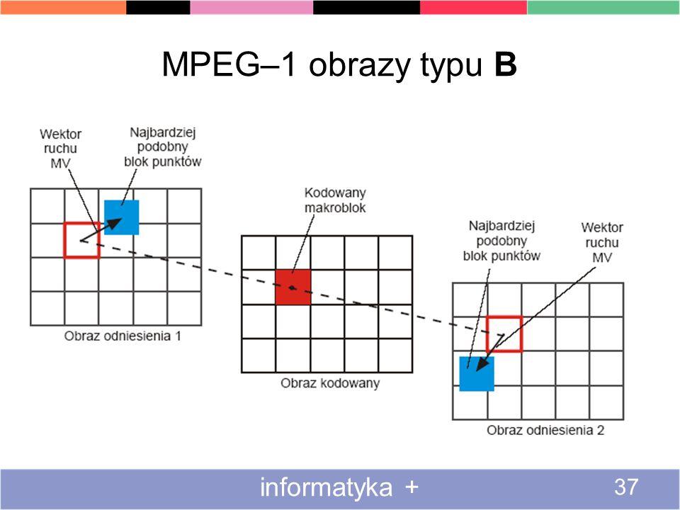 MPEG–1 obrazy typu B informatyka +