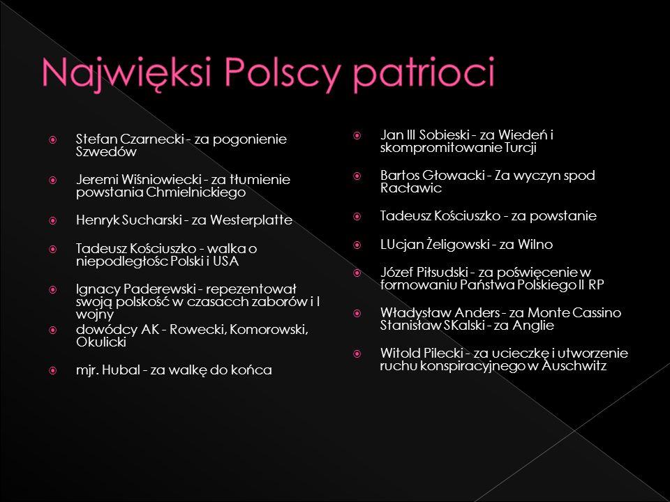 Najwięksi Polscy patrioci