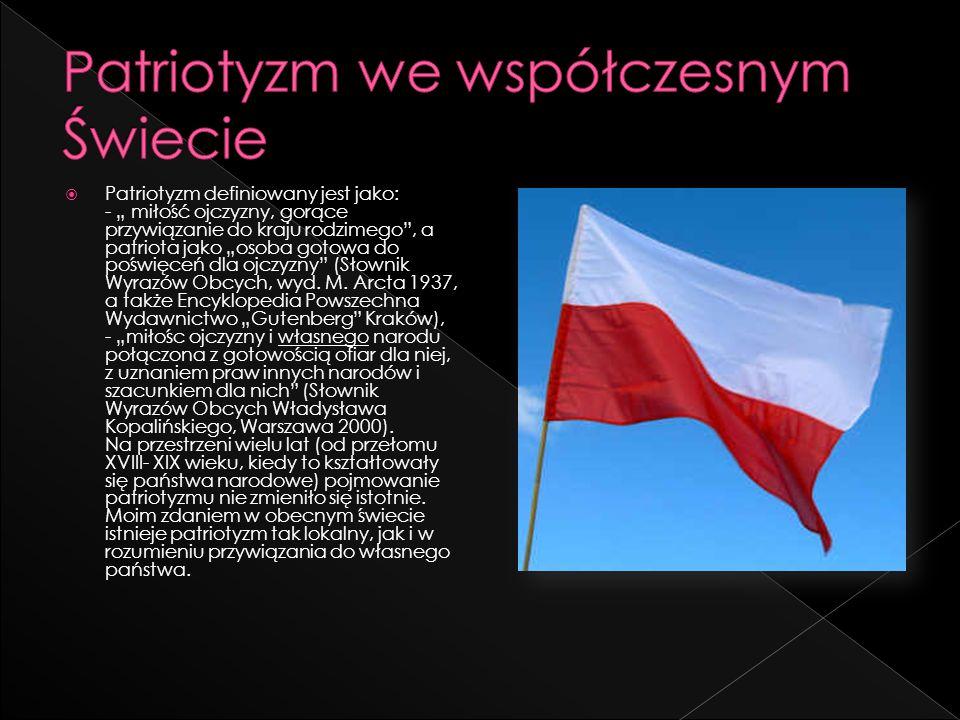 Patriotyzm we współczesnym Świecie
