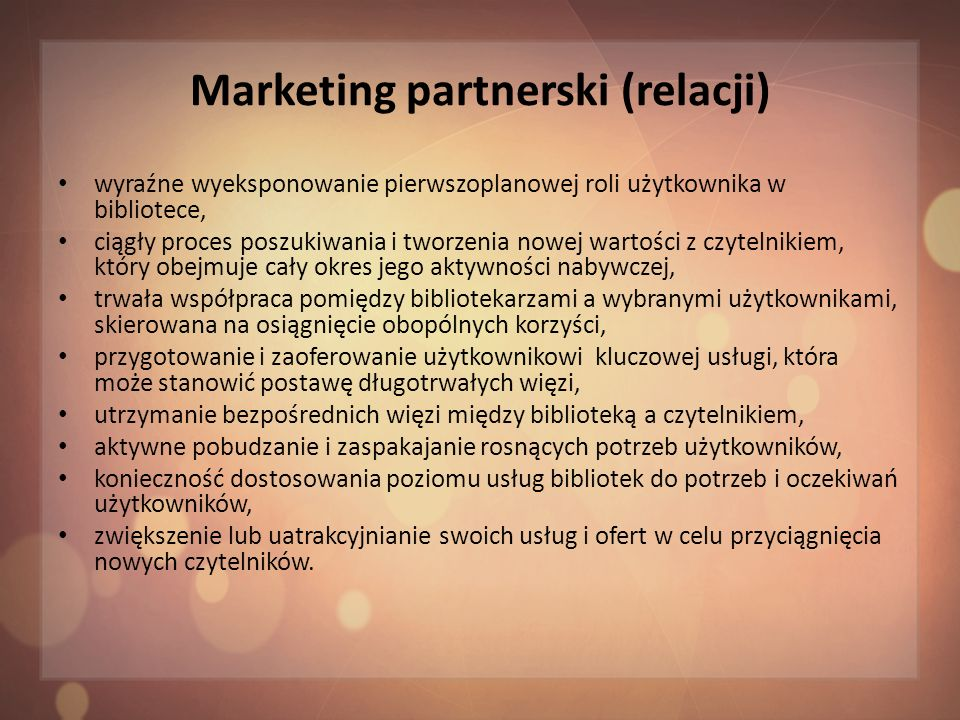 Marketing partnerski (relacji)
